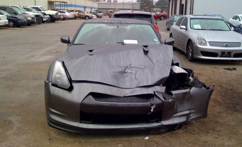 Nissan GT-R Smashed In Texas-Sized Wreck