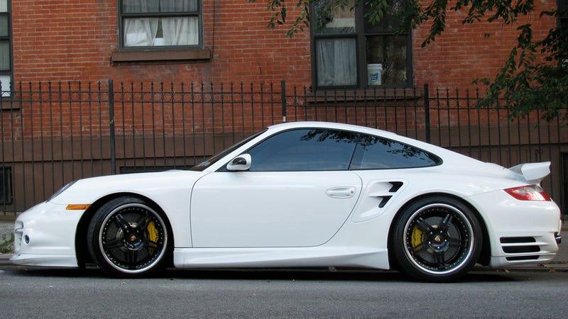 Porsche in the city