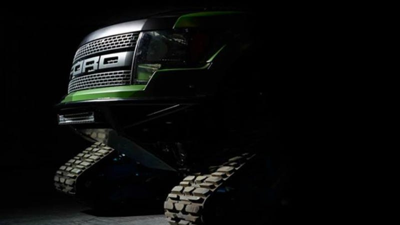 Holy Shit Ken Block Is Building An Insane Ford Raptor With Tracks