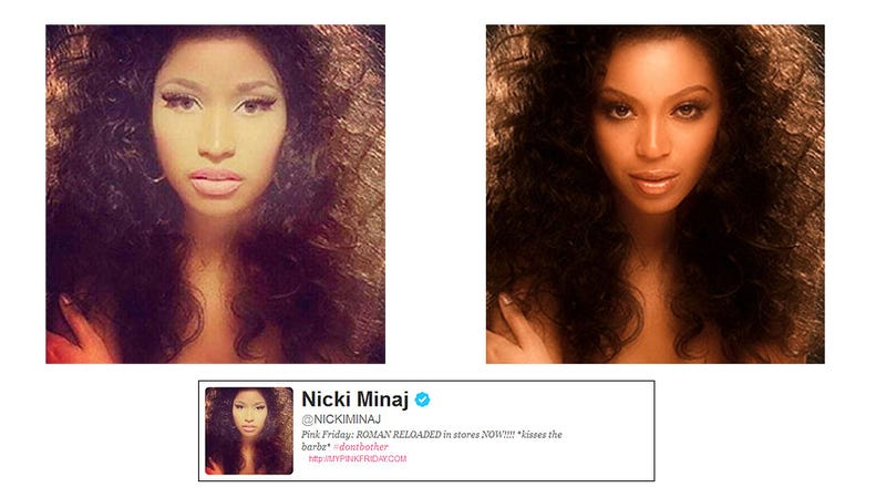 Why Does Nicki Minaj's Twitter Avatar Feature Her Face Photoshopped Over a Photo of Beyonce?