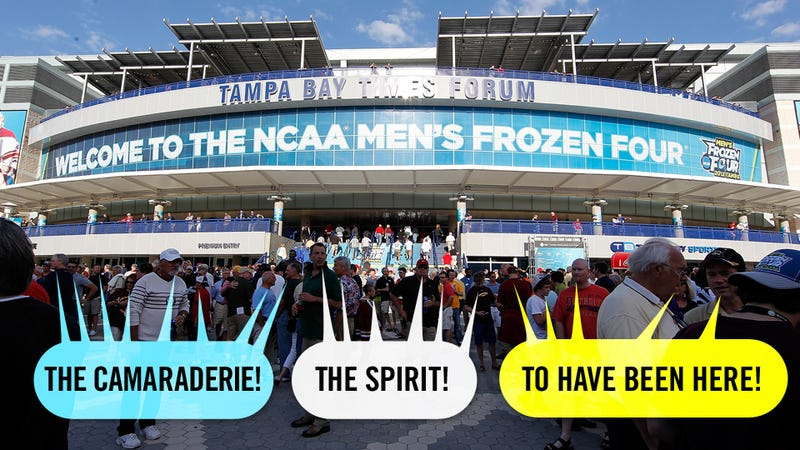 Hockey's Frozen Four In Tampa: Where America Came To Thaw Out Its Frigid Heart (And Wear Shorts Outside)