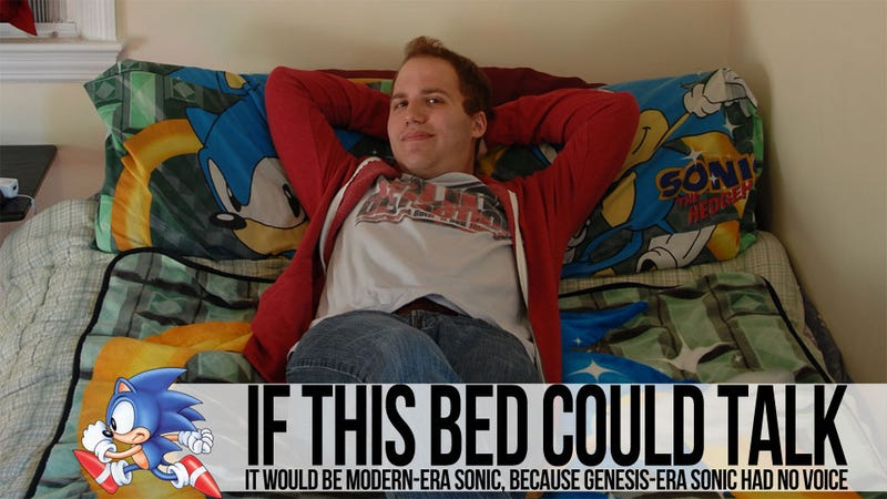 How I Achieved Greatness on a Sonic the Hedgehog-Themed Bed