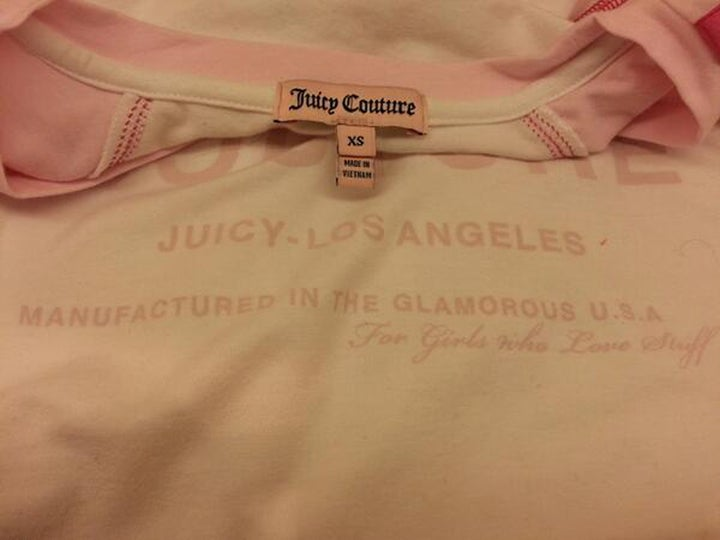 Juicy Couture Prints 'Manufactured in Glamorous USA' on Clothing, Forgets to Remove 'Made in Vietnam' Tags