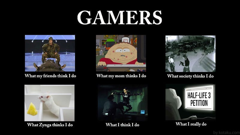 What People Think Gamers Do