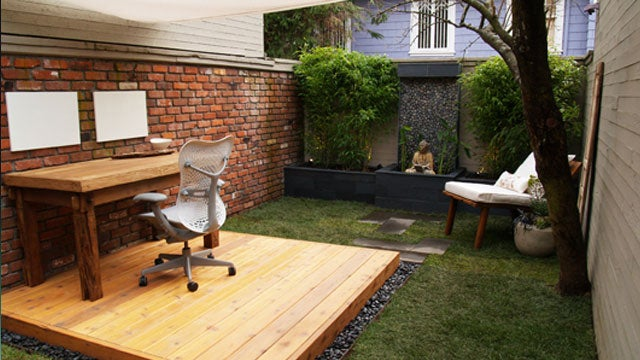 The zen like outdoor workspace for Zen office design ideas