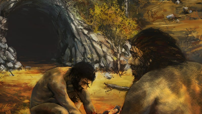 Ancient humans beat out Neanderthals by being in the right place at the right time