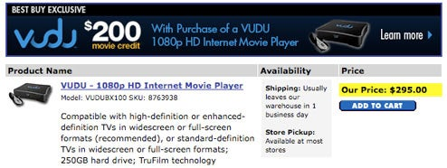 Dealzmodo: Buy Vudu at Best Buy, Get $200 In Free Movies