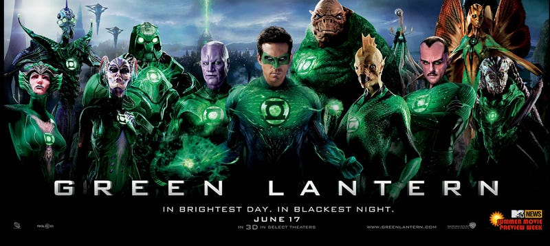 There are more aliens in this Green Lantern poster than the whole of Star Wars
