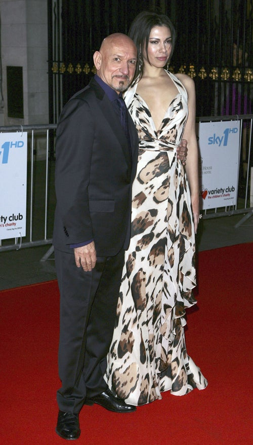 Ben Kingsley & Wife: Meow