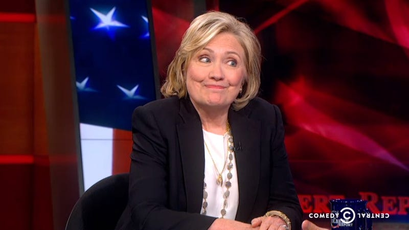 Hillary Clinton Pops by the 'Colbert Report' to Drop Some Names