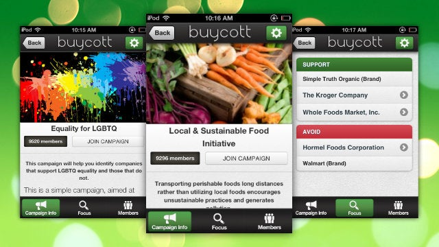 Buycott Finds Stores That Support Your Causes