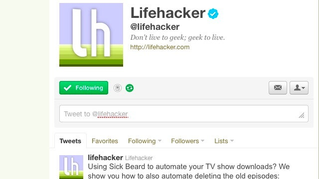 Follow Lifehacker and Our Writers on Twitter to See All Of Our Stories As Soon As They're Live