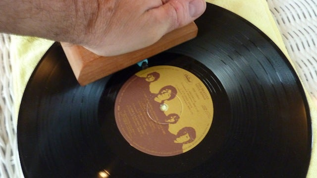 Build Your Own Record Cleaning Block with Putty for Under $10