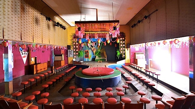 Strange scenes from an abandoned Japanese strip club