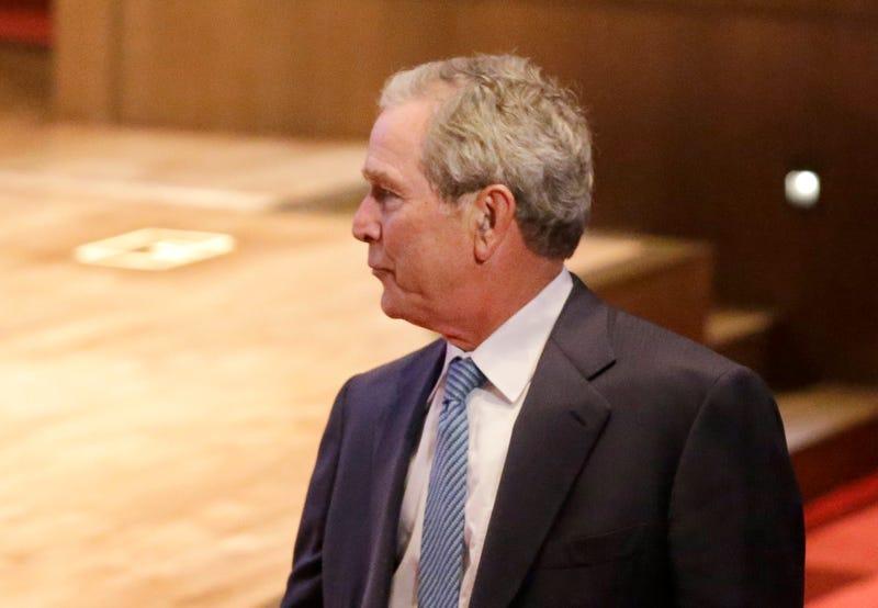 George W. Bush Explains Nude Self-Portraits, Talks New Paintings