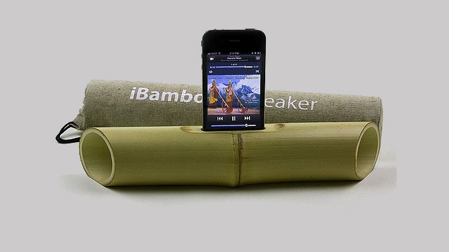 Camouflage Your iPod Speaker With Your Natural Surroundings