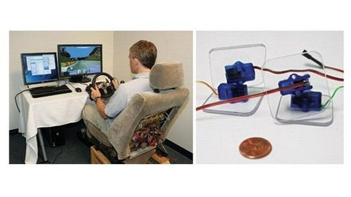 Prototype Vehicle Warning Seat System Vibrates When Danger Is Near