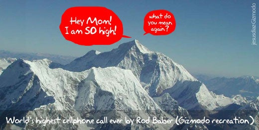 Highest Cell Phone Call Ever Made From Everest