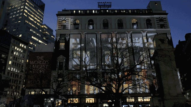 How the Super Bowl Turned the NYC Macy's Building Into a Massive Screen