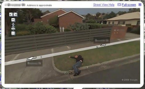 Another Buffoon Made Famous By Google Maps Streetview