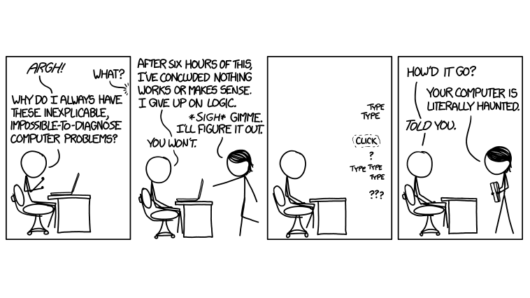 Sometimes the Only Explanation For Your Computer Fault Is Witchcraft