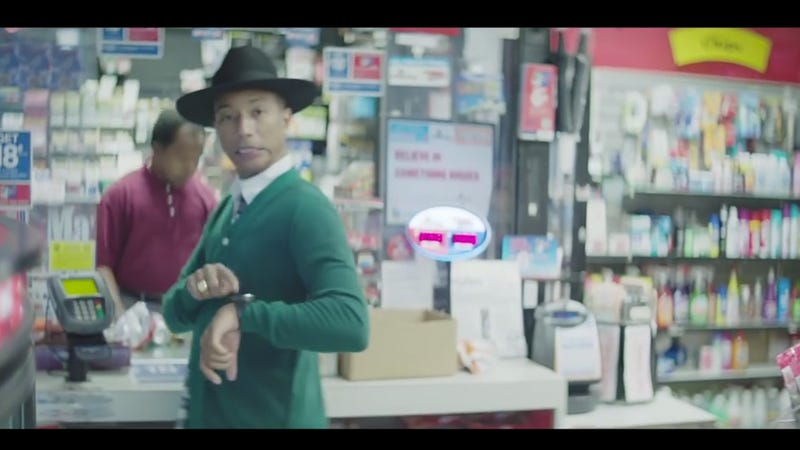 Pharrell's 24-Hour Music Video Is 10 Hours in and Still Going Strong