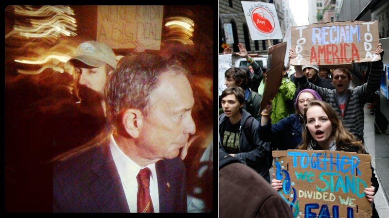 Mayor Bloomberg Drops By Occupy Wall Street