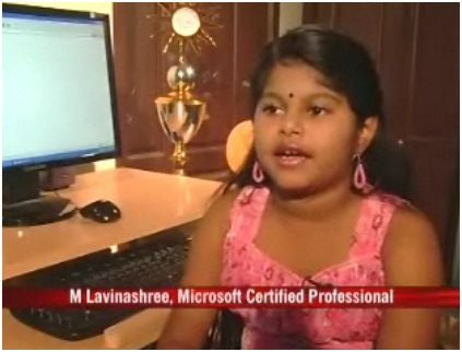 9 Year Old Girl Becomes the Youngest Microsoft Certified Professional