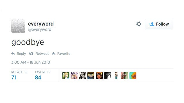 It Took Seven Years To Tweet Every Word In The English Language