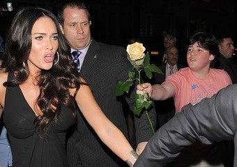 Megan Fox Explains Her Smoldering Disdain for Fat Kids Bearing Flowers