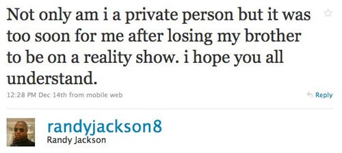 Randy Jackson Admits Jackson Family Reality Show Was A Mistake