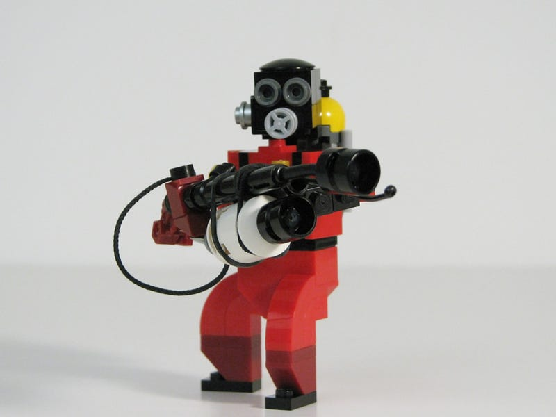 These TF2 LEGO Figures are so Small! They are Funny to me!