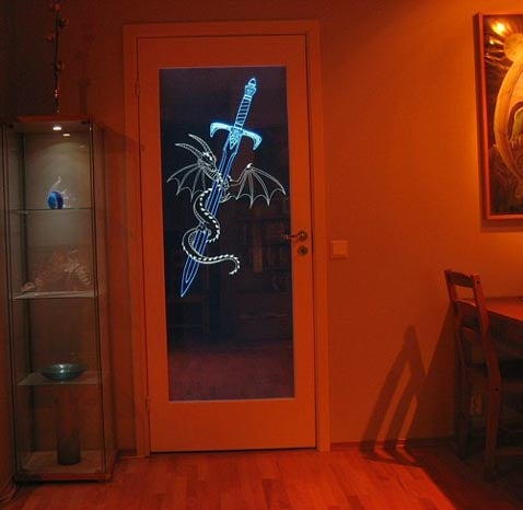 How To: Etched LED Glass Door