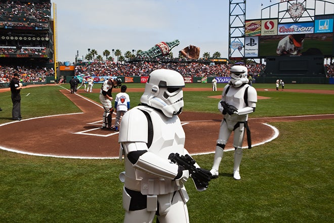 The Empire Takes Over: Star Wars Day at AT&T Park in San Francisco