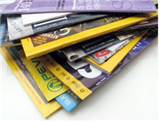 Use binders to organize your magazines