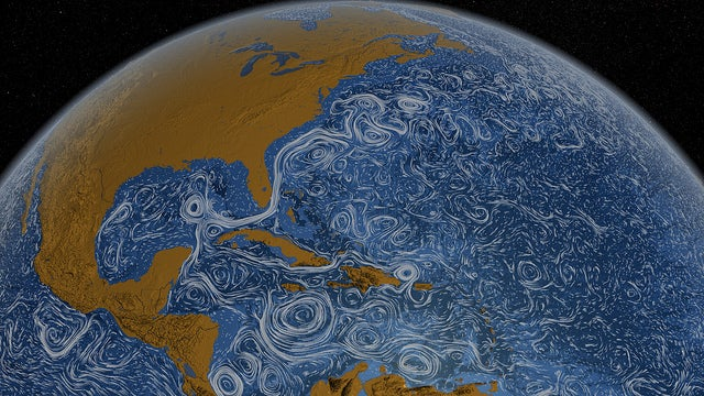 Watch the ocean currents turn the Earth into a living Van Gogh