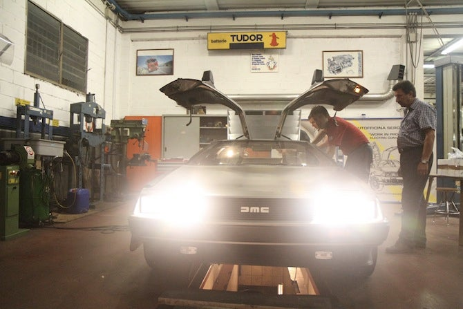 Electrified DeLorean Heads Back to the Future