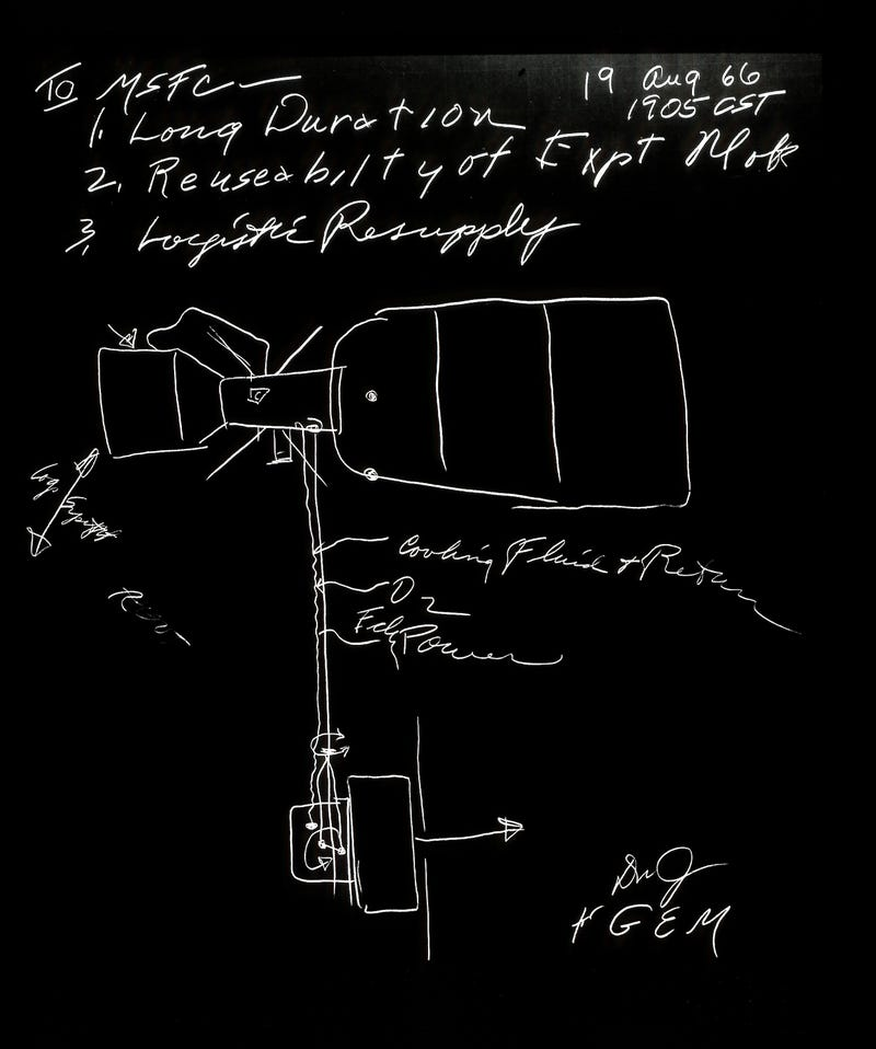 This Doodle Is Actually Concept Art Of The World's First Space Station