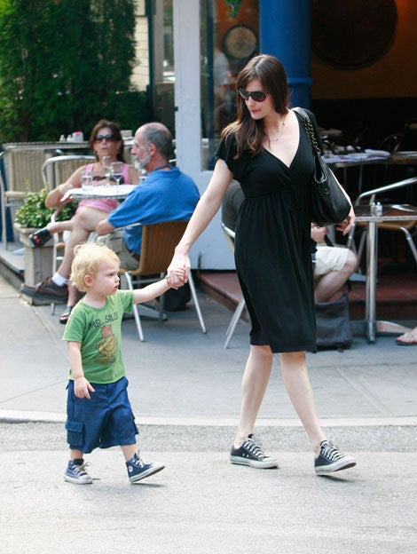 Liv Tyler And Son Milo Both Wear Comfy Converse Sneakers