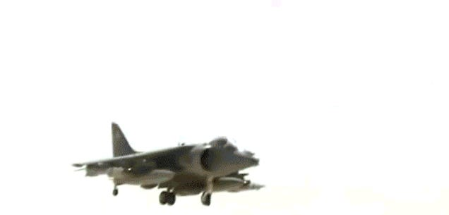 Watch a pilot crash his fighter jet and eject at the very last second
