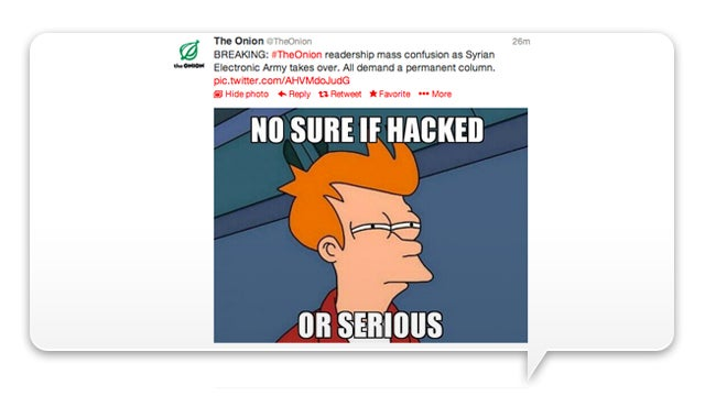 The Onion Was Hacked Or Maybe It's a Crazy Joke