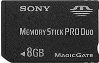 Sony Announces 8GB Memory Stick Pro Duo