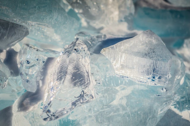 Lake Superior's ice looks like Superman's Fortress of Solitude