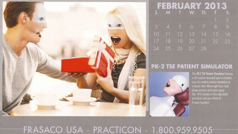 This Terrifying Dental Mannequin Calendar Is This Year's Hot Christmas Gift