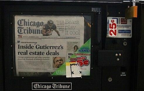 No Blago Influence, Says Chicago Tribune