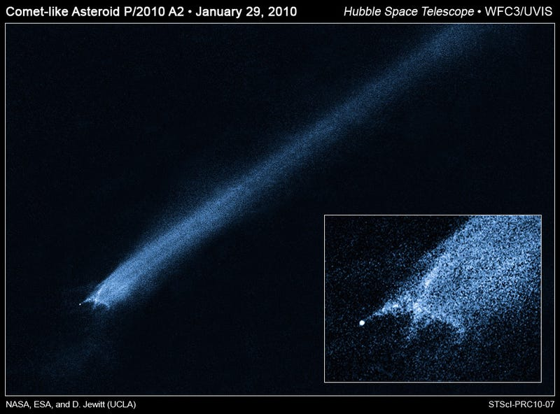 Why does this bizarro asteroid have a million-kilometer-long tail?