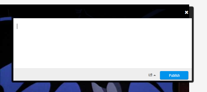 Okayyyy.... making the header of the comment box translucent....