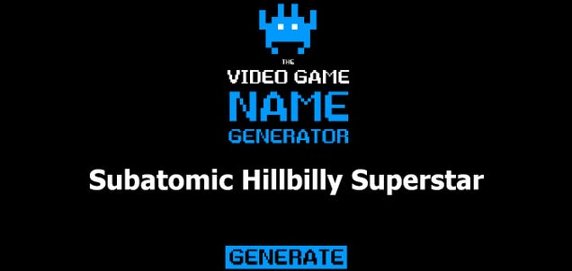 Video Game Name Generator
