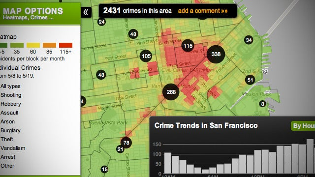 Trulia Crime Maps Puts Crime Statistics on a Heat Map, Highlights Crime Trends in Your Neighborhood