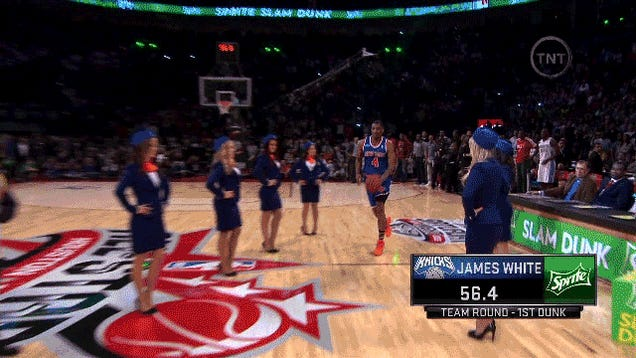 GIF: James White's First Dunk